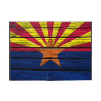 Arizona Flag Painted on Rustic Wood iPad Mini Cover