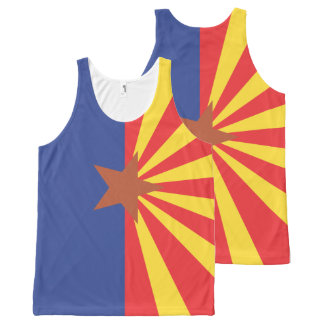 ARIZONA Flag Pattern -.png All-Over Print Singlet
