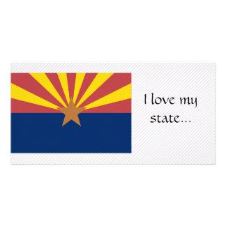 Arizona Flag Custom Photo Card