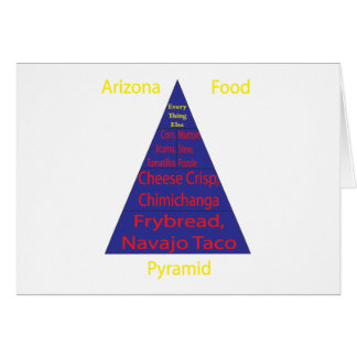 Arizona Food Pyramid Greeting Card