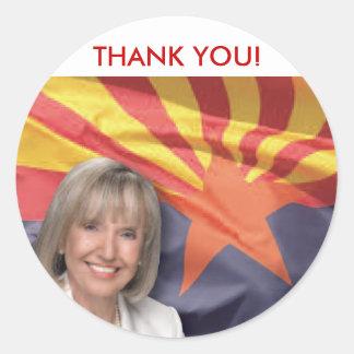Arizona Governor Jan Brewer Classic Round Sticker