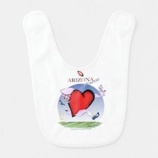 arizona head heart, tony fernandes bib