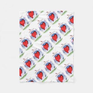 arizona head heart, tony fernandes fleece blanket