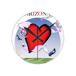 arizona head heart, tony fernandes wall clock