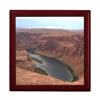 ARIZONA - Horseshoe Bend B - Red Rock Large Square Gift Box