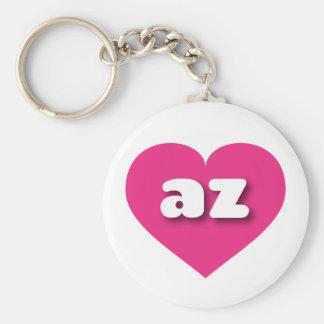 Arizona hot pink heart - mini love key ring