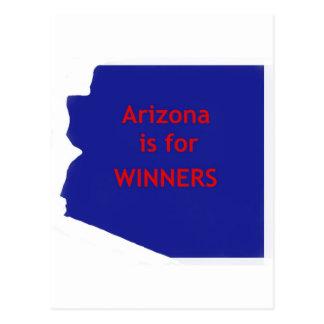 Arizona is for winners postcard