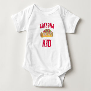 Arizona Kid Chimichanga Foodie Tex Mex Southwest Baby Bodysuit