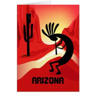 Arizona Kokopelli Sunset Greeting Card