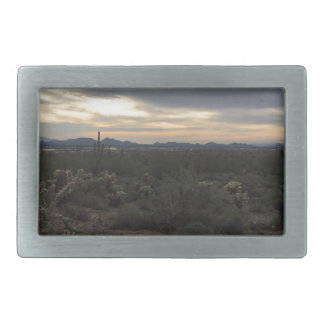 Arizona Landscape Rectangular Belt Buckle