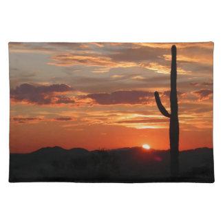 Arizona landscape sunset placemat