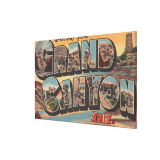 Arizona- Large Letter ScenesArizona Canvas Print