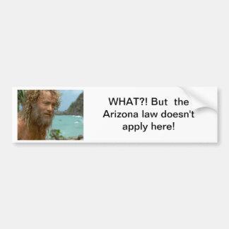 Arizona Law Bumper Sticker