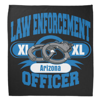 Arizona Law Enforcement Officer Handcuffs Bandana