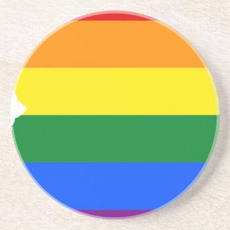 Arizona LGBT Flag Map Coaster