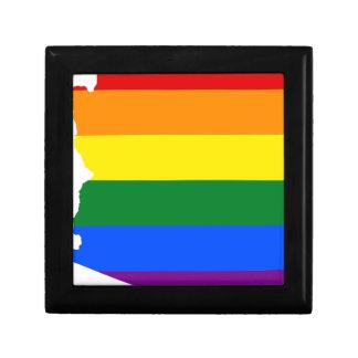 Arizona LGBT Flag Map Gift Box
