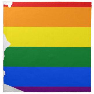 Arizona LGBT Flag Map Napkin