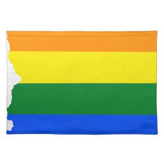 Arizona LGBT Flag Map Placemat