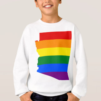 Arizona LGBT Flag Map Sweatshirt