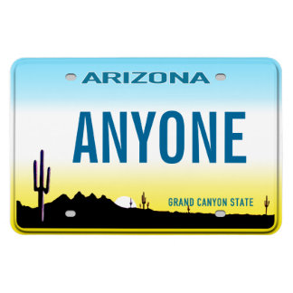 Arizona License Plate (personalized) Rectangular Photo Magnet