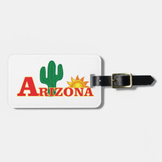 Arizona logo simple luggage tag