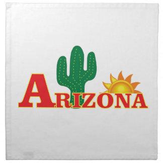 Arizona logo simple napkin