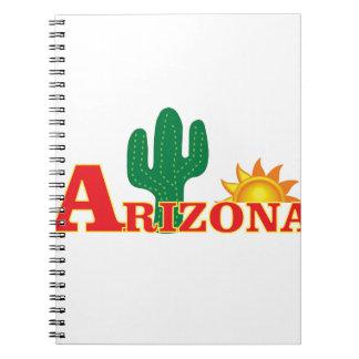 Arizona logo simple notebook