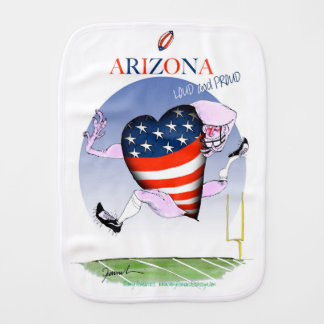 arizona loud and proud, tony fernandes burp cloth