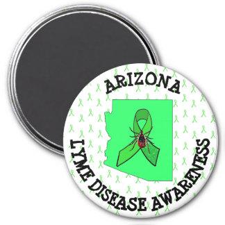 Arizona Lyme Disease Awareness Ribbons Tick Magnet