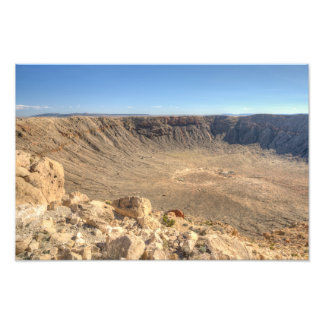 Arizona Meteor Crater Photo Print