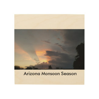 Arizona Monsoon Season Wood Prints