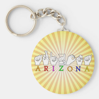 ARIZONA NAME ASL FINGERSPELLED SIGN KEY RING
