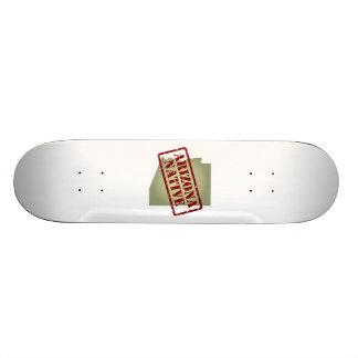 Arizona Native Stamped on Map Skateboards