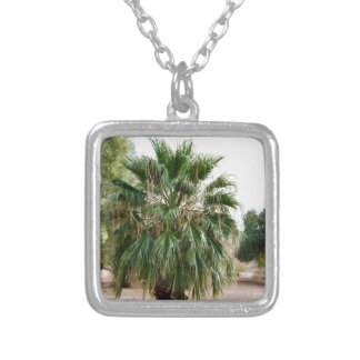 Arizona Palm Silver Plated Necklace