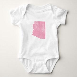 Arizona Pink Vintage Grunge Baby Bodysuit