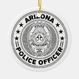 Arizona Police Officer Ceramic Ornament