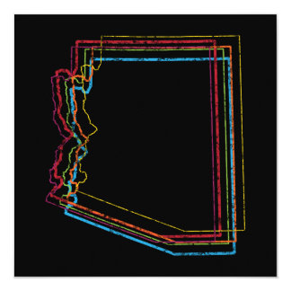 arizona pride blur 13 cm x 13 cm square invitation card