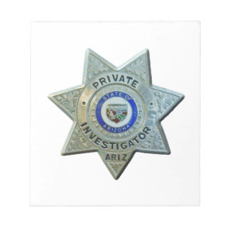 Arizona Private Investigator Notepad