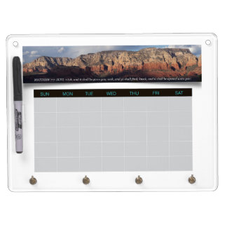 Arizona Red Rocks Weekly Planner Calendar Proverbs Dry Erase Board With Key Ring Holder