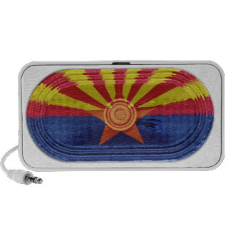 Arizona Red Yellow Rays Copper State Flag Doodle Mp3 Speakers
