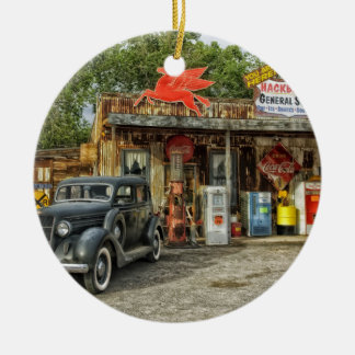 Arizona Route 66 rustic retro store Ceramic Ornament