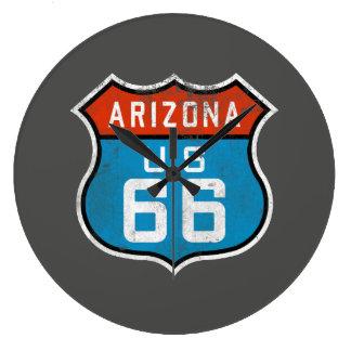 Arizona Route 66 Vintage Retro Distressed Logo Large Clock