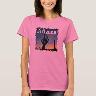 Arizona Saguaro Cactus at Sunset Southwestern Tee