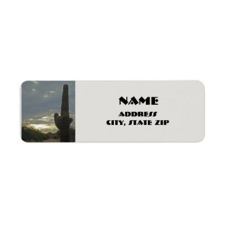 Arizona Saguaro Cactus Desert Plant Southwest Return Address Label