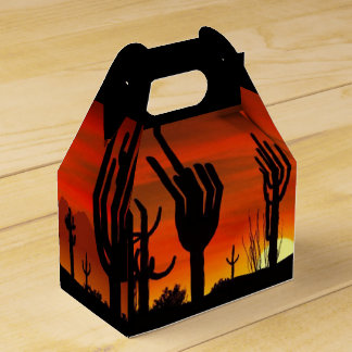 Arizona Saguaro Cactus - Gable Favor Box