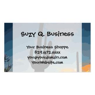 Arizona Saguaro Cactus Southwestern Sunset Pack Of Standard Business Cards
