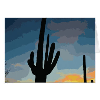 Arizona Saguaro Cactus Southwestern Sunset Card