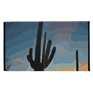 Arizona Saguaro Cactus Southwestern Sunset iPad Case