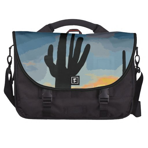 Arizona Saguaro Cactus Southwestern Sunset Bag For Laptop