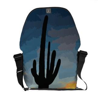 Arizona Saguaro Cactus Southwestern Sunset Courier Bags
